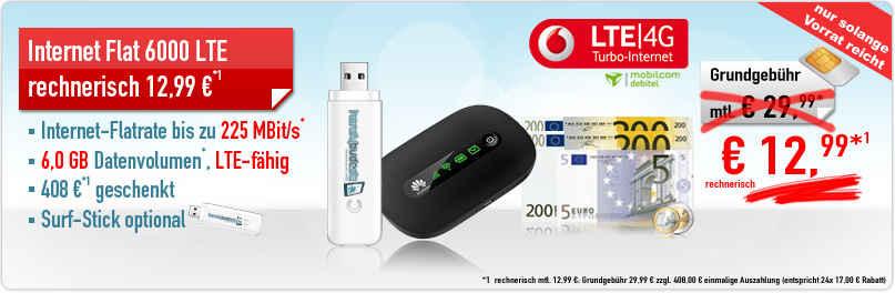 Internet-Flat LTE 6000