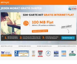 simyo Flat Internet Free