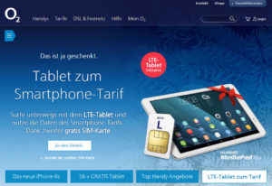 O2: Gratis Tablet zum Smartphone-Tarif