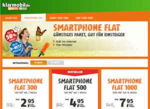 klarmobil Smartphone Flat Angebote mit 50% Rabatt