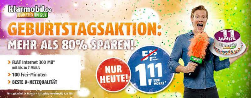 klarmobil Smartphone Flat 300 Geburtstags-Aktion