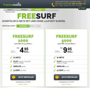 freeSURF 5000 Datenflat 5 GB