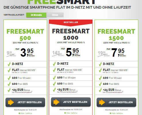 freenetmobile freeSMART Handytarife